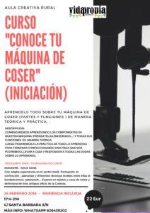 Curso Conoce tu máquina de Coser (Iniciación)